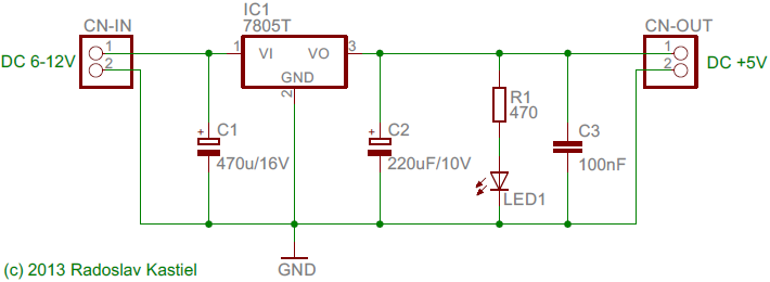 DC power stabilizer +5V